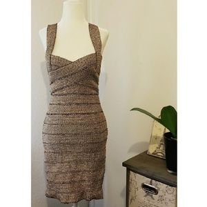Dresses & Skirts - Gold bodycon dress medium
